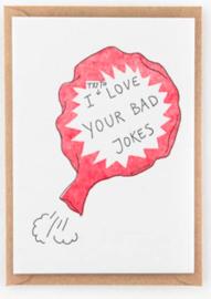 "Studio Flash • kaart ""bad jokes"""