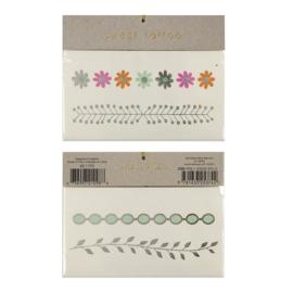 Meri Meri • tattoos floral bangles
