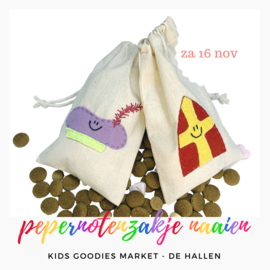 Kids workshop • pepernotenzakje naaien Sint