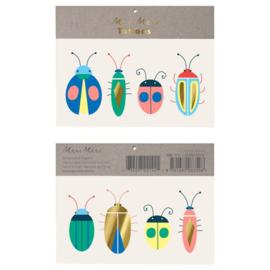 Meri Meri • tattoos neon bugs