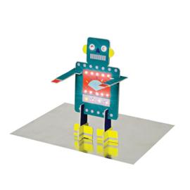 "Meri Meri • kaart ""happy birthday robot"" pop out"