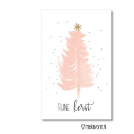 """MIEKinvorm • minikaart """"fijne kerst"""""""