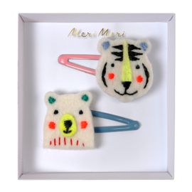 Meri Meri • hair clips bear & tiger