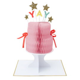 "Meri Meri • kaart ""yay cake stand-up"""
