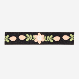 ZZZ Madam Stoltz • masking tape 'zwart met pastel bloemen'