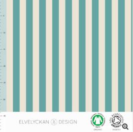 Stof • Elvelyckan Design • vertical stripes - aqua & creme (jersey)