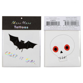 Meri Meri • tattoos bat & skull halloween