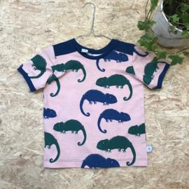 Uit eigen atelier • t-shirt kameleon korte mouw (6 maanden t/m 6 jaar)