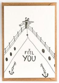 """Studio Flash • kaart """"i feel you"""""""
