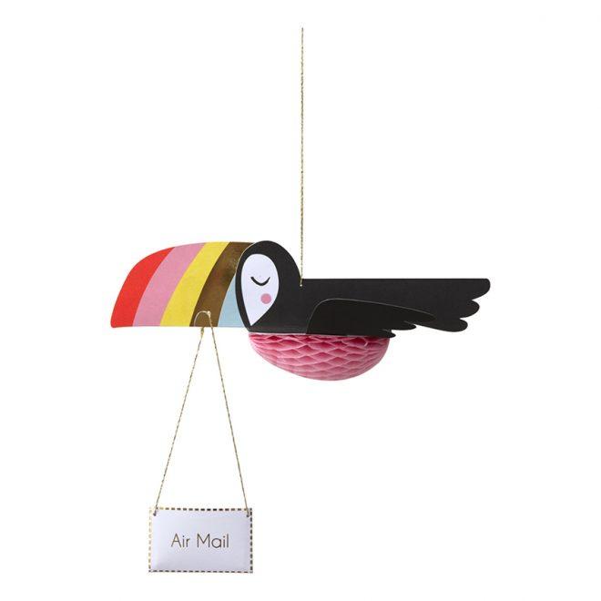 """Meri Meri • kaart """"flying toucan"""""""