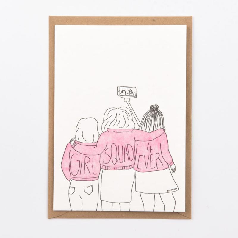 """Studio Flash • kaart """"girl squad"""""""