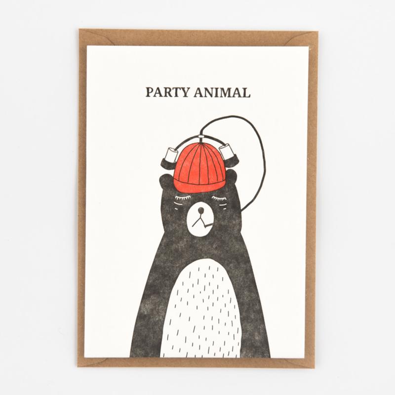 """Studio Flash • kaart """"party animal"""""""