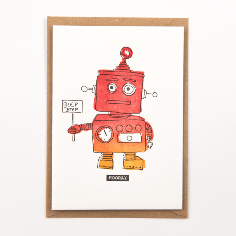"Studio Flash • kaart ""beep beep hooray"""