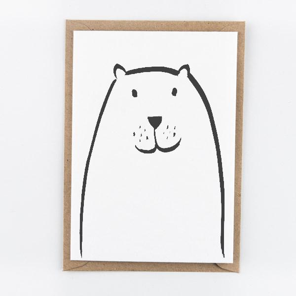 "Studio Flash • kaart ""beaver"""