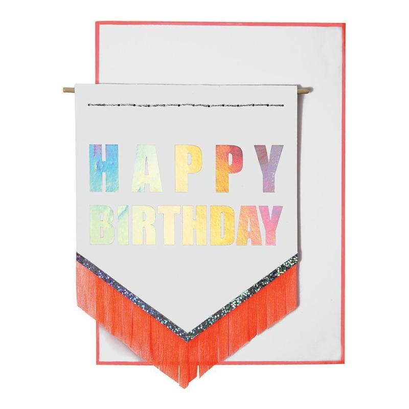 """Meri Meri • kaart """"happy birthday"""" banner"""