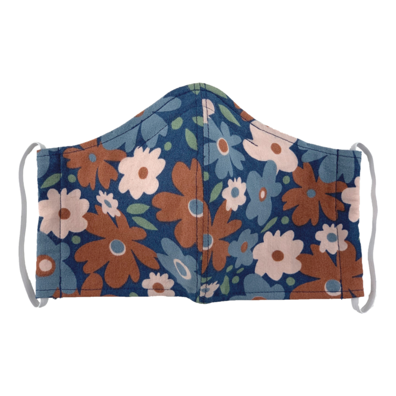 Uit eigen atelier • mondkapje bloemen