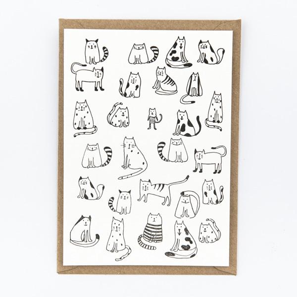 "Studio Flash • kaart ""little cats"""