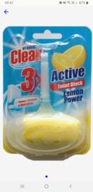 At home clean active toiletblock lemon power