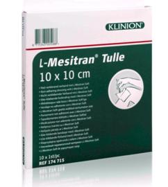 Klinion advanced mesitran tulle zalfkompres 10x10cm