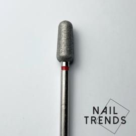 Manicure bitje nieuwe vorm rood