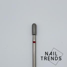 Manicure Bitje 31 mm Half rond rood