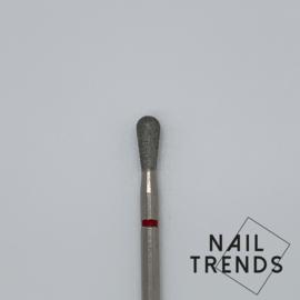 Manicure bitje nieuwe vorm Druppel Rood