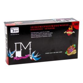Zwarte handschoenen Nitrill poedervrij maat S/M