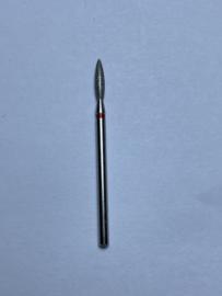 Vlammetje/Traan Manicure bitje 23 mm rood ronde neus