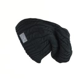 Slouchy Hat Zwart Wintermuts
