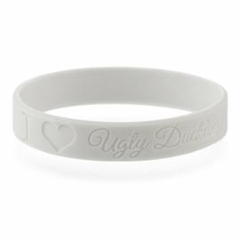 """Armband """"I ♥ UD"""" lichtgrijs"""