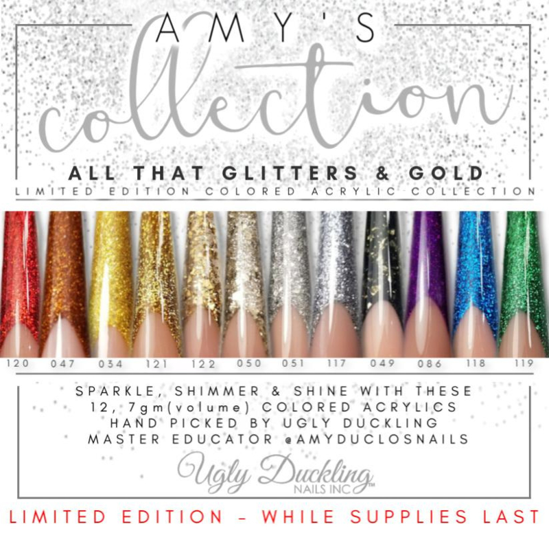 "Color Acryl # Amy's ""All that glitters & gold"" Collection set 12 x 7ml"