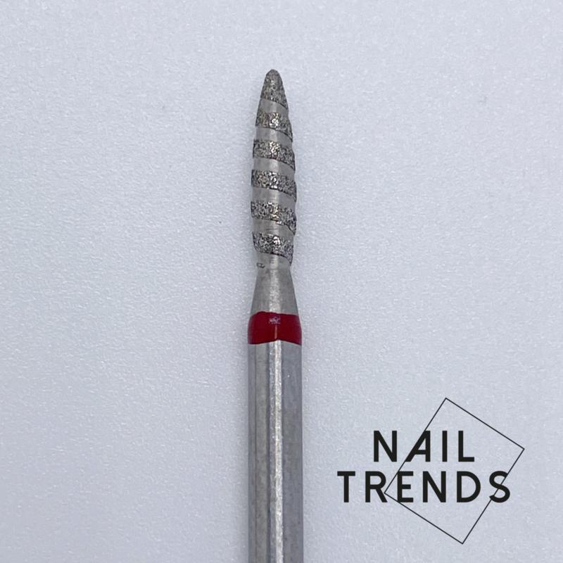 Vlammetje/Traan Manicure Tornado Rood RONDE NEUS