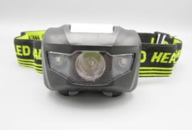 YYEDC - LED headlight - LED lamp voor op het hoofd, zwart - geel
