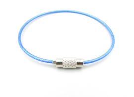 Stainless steel wire chain - blauw