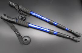 Halin - Nordic walking - wandelstok, blauw - 110cm - set