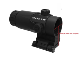 Falke B3X visor, 3x magnification - for Red dot visors