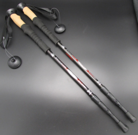 Jungle Leopard - Nordic walking stick - wandelstok - zwart - 125cm  - set