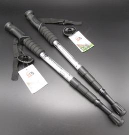 Jungle Leopard - Nordic Walking Stick - wandelstokken - Zilver - 110cm - set