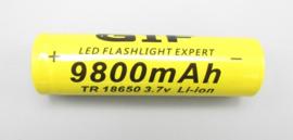 GIF - 18650 batterij - 3,7V / 9.800mAh