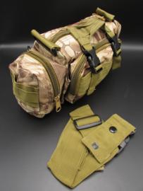 Survival-Tools - Draagtas van stevig nylon, spatwaterdicht - Woestijn-camokleuren, nr.3