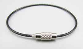 Stainless steel wire chain - zwart