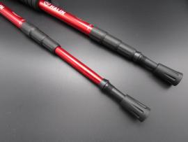 Halin - Nordic walking - wandelstok, rood - 110cm  - set