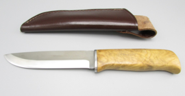 Hunting knife with root wooden handle, no.3