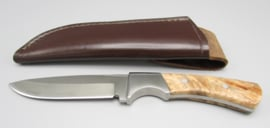 Hunting knife with root wooden handle, no.2