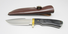 Hunting knife with ebony wood handle