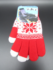 Dames handschoenen - touch gloves - rood