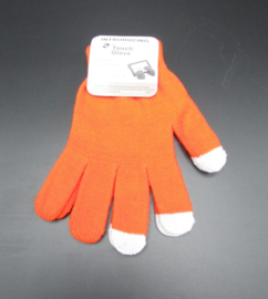 Dames handschoenen - touch gloves - oranje