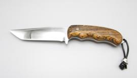 Handgemachtes Jagdmesser mit Griff aus Bocote-Holz, Nr.5