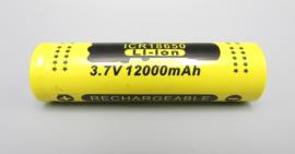 GIF - 18650 batterij - 3,7V / 12.000 mAh