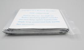 Tegoni - Emergency Blanket - foliedeken, 130 x 210cm